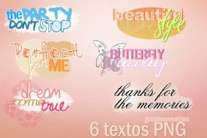 6 TEXTOS PNG by greatsensations