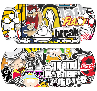psp sticker bomb only for psp 3000 by gumwin390