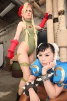 Chun-Li and Cammy Cosplay photograph by Elin-Kuzunoha