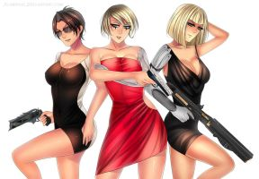 The Crew: Damillia, Rymi, and June X by TheBurning1
