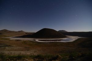 Meke lake under the moon light by TanBekdemir