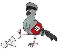Nazi Pigeons Playing Chess by ScarecrowMarionette