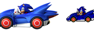 Sonic and SEGA All-Stars Racing by delvallejoel