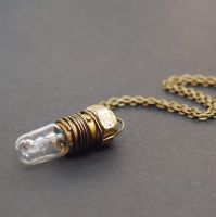 Steampunk Light Bulb Necklace by Tanith-Rohe