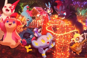 Wild pokemon Xmas 2011B by Ninja-Jamal