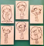 ACEO Commission set of 6 for by theNekk