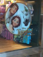 Tangled Ever After on window of Disney Store by TangledxEpicFan
