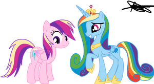 Rainbow Dash And Cadence To:rainbowdashbrittany1 by AndreaSemiramis