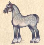 Horses of Hyrule: Hylian Warhorse by who-stole-MY-name
