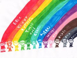 Rainbow South Park and Me by MentalRocks