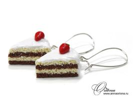 White cake with strawberries by OrionaJewelry