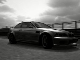 BMW M3 Black and White by mikebontoft