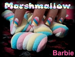 Marshmallow Nails by BarbieNailArt
