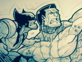 Colossus Wolverine Fastball Special Sneak Peak by nctorres