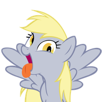 Derpy Hooves making a silly face by Internetianer
