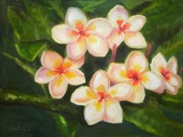 Tropical White Flowers by ScrawnySquall
