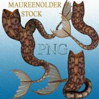 STOCK PNG brown mer-tails by MaureenOlder