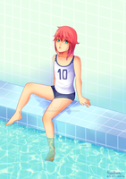Swimming time ! by Chainsaw-Kid