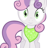 Sweetie Belle wearing a bandana vector by AnEvilZebra