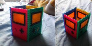 Gameboy color pencil box holder perler beads by Artistic-Imagery