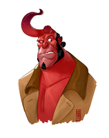 Hellboy by CamaraSketch