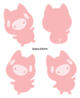 Lineless Pig by Daieny