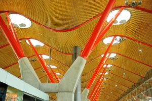 Barajas Airport Madrid - architecture 1 by wildplaces