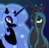 Nightmare VS Chrysalis by MidnyghtDew