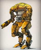 Kitbashed Robot 2 by bergstromo