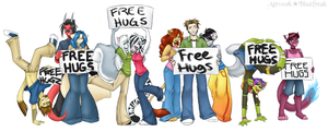 Free Hugs For Everyone by bluefreak