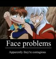 Inuyasha and Shippo's faces by ApostolicShadowNinja