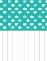 Paper Star Strips - Fish (BLUE) by Bestesy