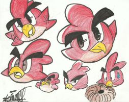 Little Red Hong Expressions... by Papiwolffox640
