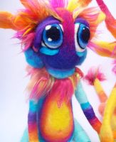 Blue Rainbow Tie-Dye Goblin by Tanglewood-Thicket
