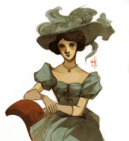 Victorian lady by Spaska