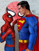 Spider-man vs Superman by markman777