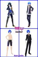 Kaito's Outfits in Project Diva F by Levi-Ackerman-Heicho