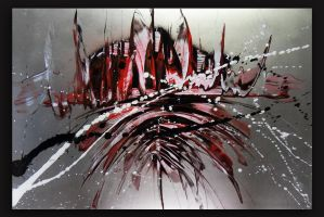 Spray painting Abstract- Bloodzity by Airgone