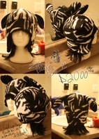 +FleeceHat:Sold+ Zebra. by Stephys-Adoptables