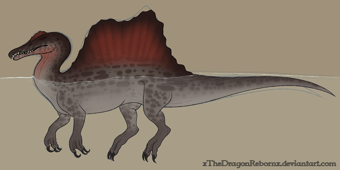 Spinosaurus Doodle by xTheDragonRebornx
