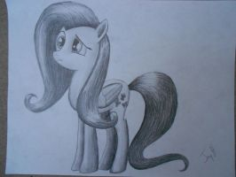 Fluttershy in graphite by bigmac22