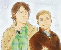 Winchester brothers by LinART