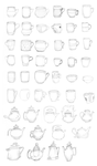 .: Sketches of Cups :. by The-Crowned
