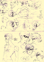feb 2011-sketch-young justice by paranoidiomatic