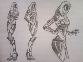 sketches Tali (13) by spaceMAXmarine