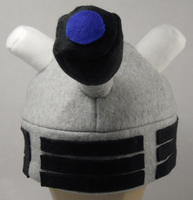 Dalek Fleece Hat by rhaben