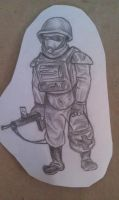 Post Apocalyptic Soldier (2011) by JimCaspian