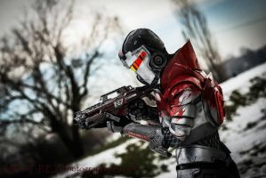Blood Dragon Armour Cosplay Leon Chiro as Shepard by LeonChiroCosplayArt