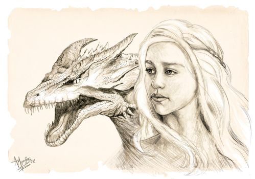 Daenerys, Mother Of Dragons by theLethalRabbit