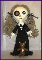 Goth Twine Haired Rag Doll by jazzy1453